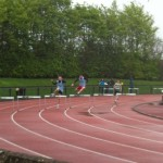 Cormac Hartnett & Patrick Barry competing in 300m Hurdles (2nd & 3rd place)