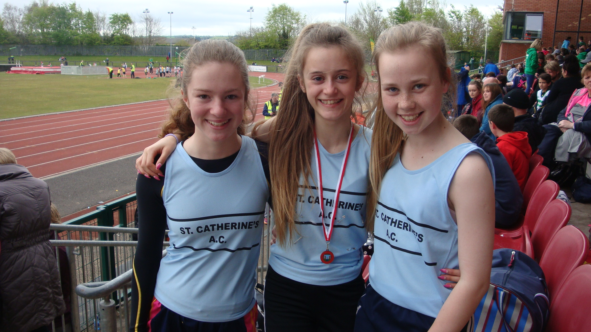 Hazel Sheehan, Meghan Carr, Cliona Dunning. St Catherines Athlete's at last Sunday Track and Field at CIT