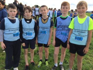 St Catherine's AC Boys U12 team at the County Cross Country Championships